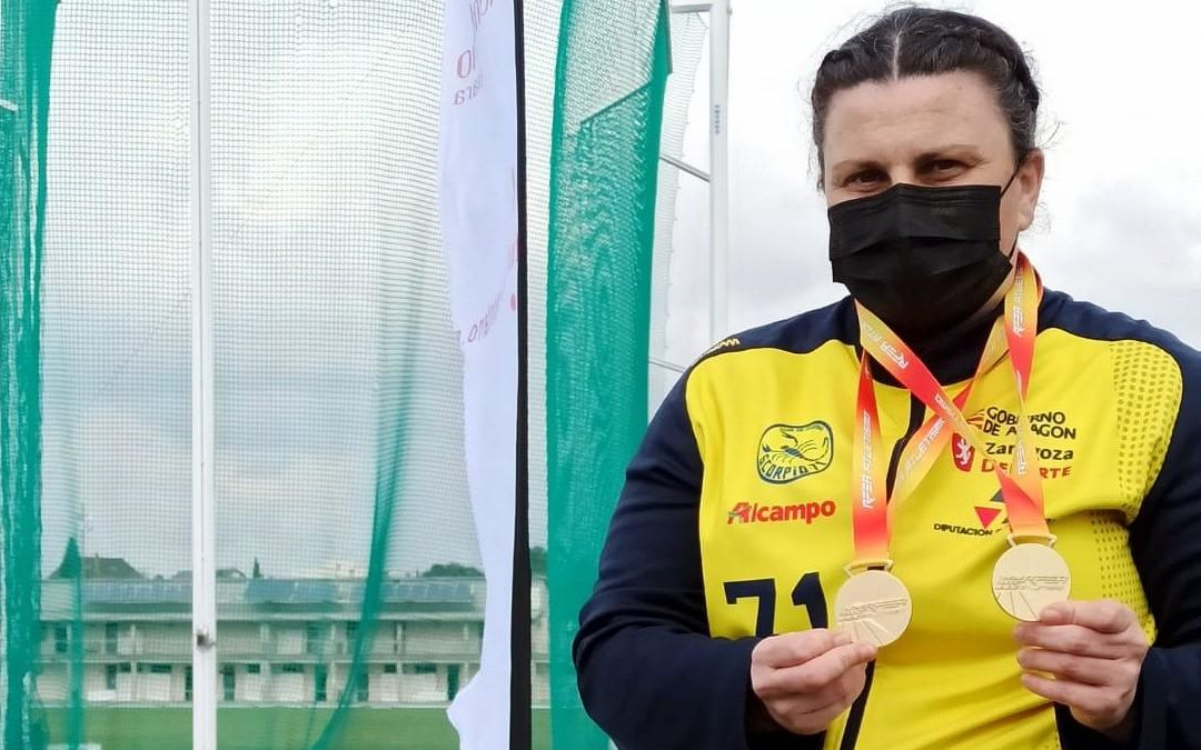 Doble oro de Vanesa Gil en el nacional de lanzamientos largos de invierno máster