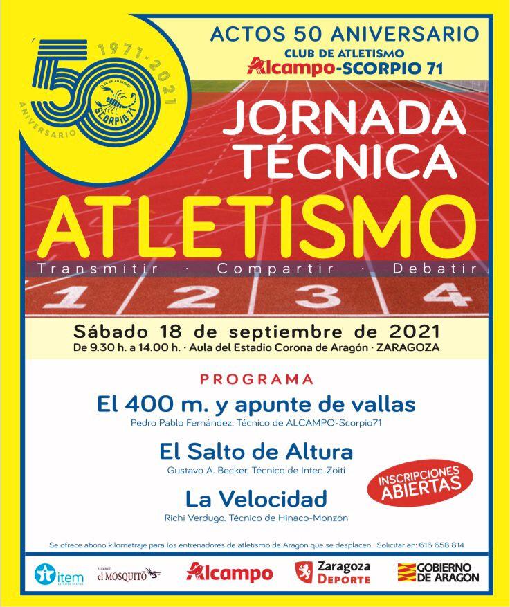 Cartel de la Jornada Técnica Atletismo del 18 de septiembre